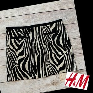 H&M Zebra Print Mini Skirt